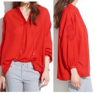 Madewell | Embroidered Red Tunic